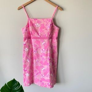 LILLY PULITZER Grrranium Floral Lion Print Dress 6